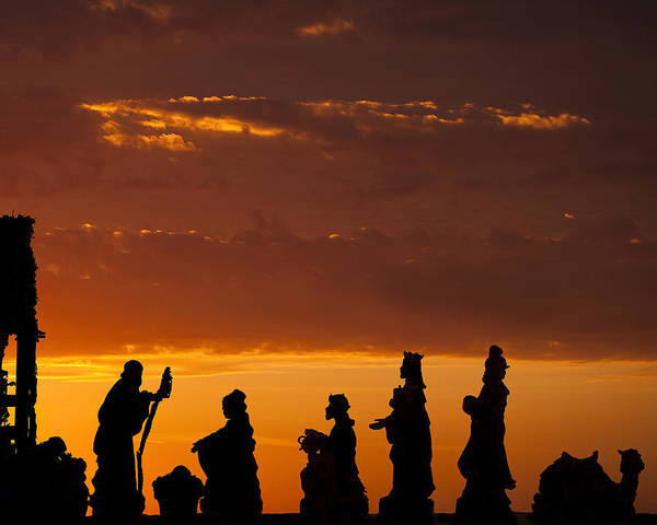 Christmas Poster featuring the photograph Nativity Sunrise by Andrew Soundarajan