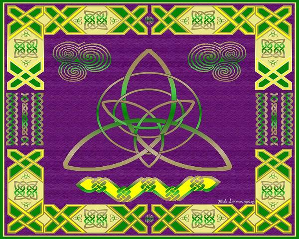 Celtic Knot Poster featuring the painting Natural Knot by Mike Sexton