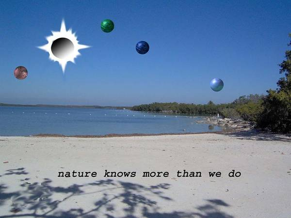 Sci-fi Landscape Poster featuring the photograph Nature Knows More Than We Do by Giles b Liddell