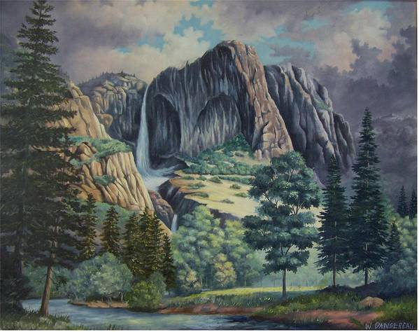Landscape Poster featuring the painting Natures Wonder by Wanda Dansereau