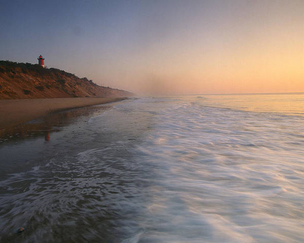 Outdoors Poster featuring the photograph Nauset Light On The Shoreline Of Nauset by Michael Melford