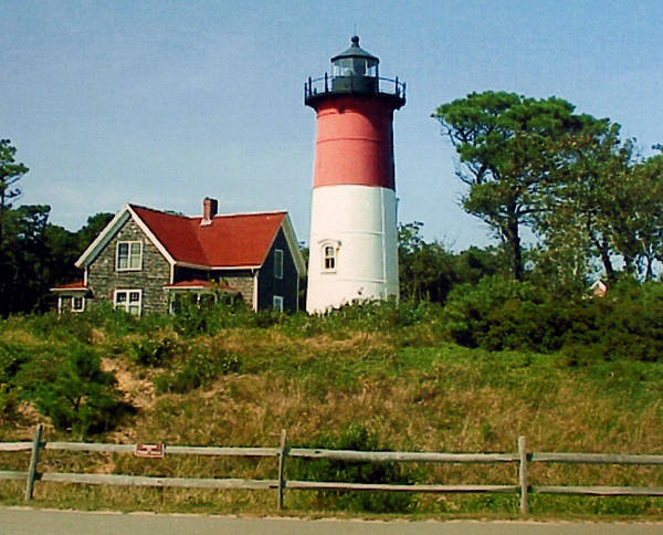Landscape Photographs Poster featuring the photograph Nauset Lighthouse by Frederic Kohli