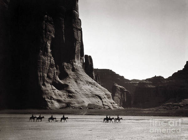 1904 Poster featuring the photograph Navajos: Canyon De Chelly, 1904 by Granger