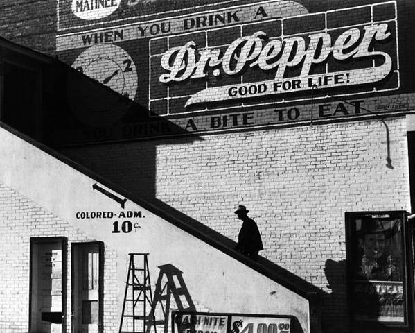 1930s Candid Poster featuring the photograph Negro Going In Colored Entrance by Everett
