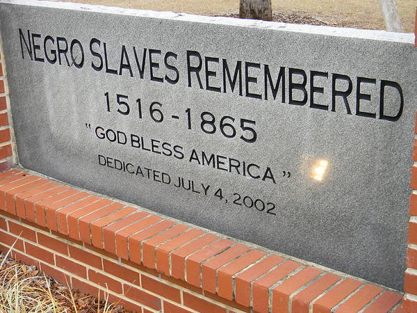 Negro Slaves Remembered Poster featuring the photograph Negro Slaves Remembered by Warren Thompson