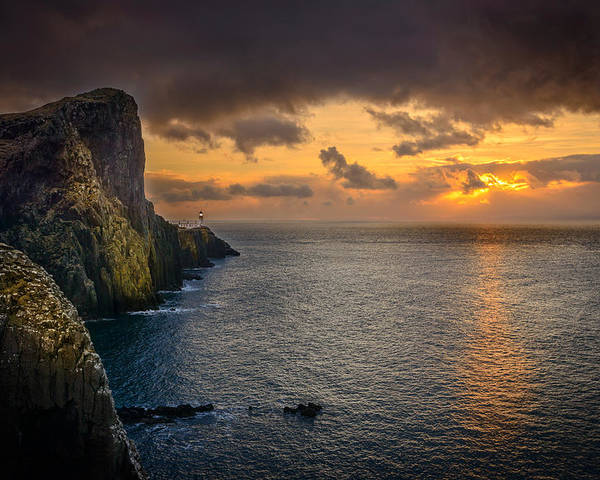 Scotland Poster featuring the photograph Neist Point Lighthouse Isle of Skye by Peter OReilly