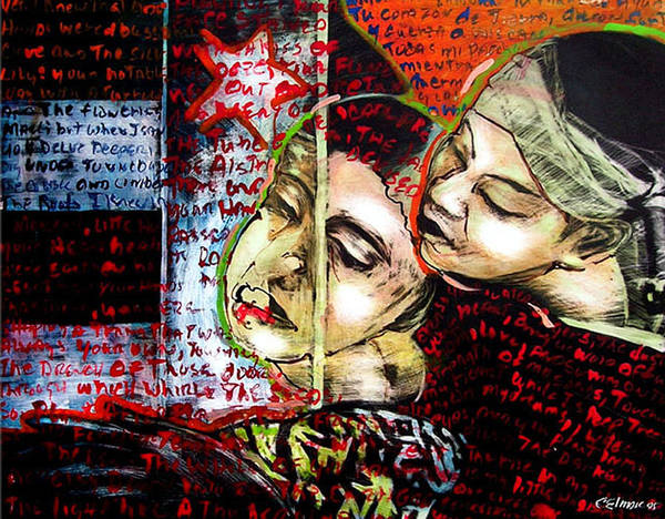 Poster featuring the mixed media Neruda Love Poem by Chester Elmore