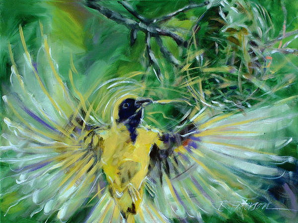 Nature Poster featuring the painting Nest 2 by Ron Patterson