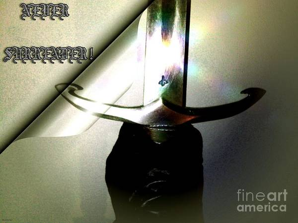 Sword Poster featuring the digital art Never Surrender by Gabor Gabriel Magyar - Forgottenangel