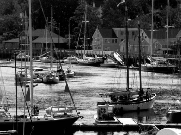Boats Poster featuring the digital art New England Seaside by Donna Thomas