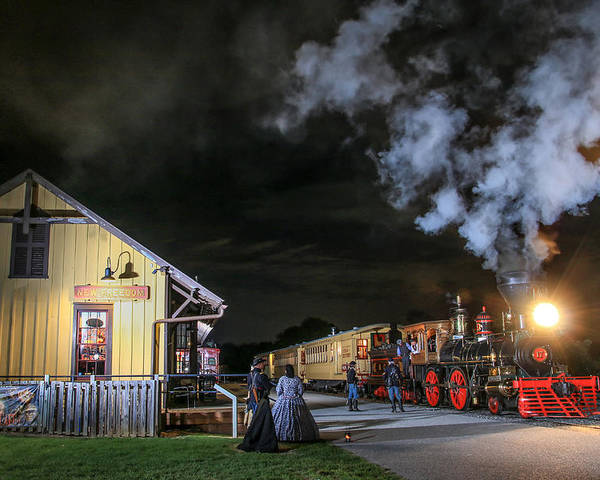 New Freedom Poster featuring the photograph New Freedom Pa Steam Train by Sharon Horn