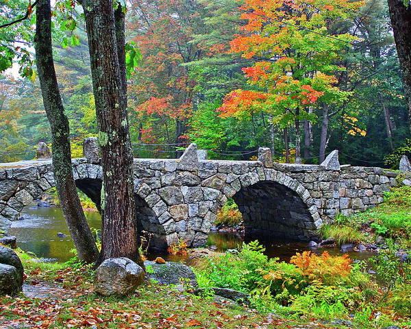 Bridge Poster featuring the photograph New Hampshire Bridge by Diana Hatcher
