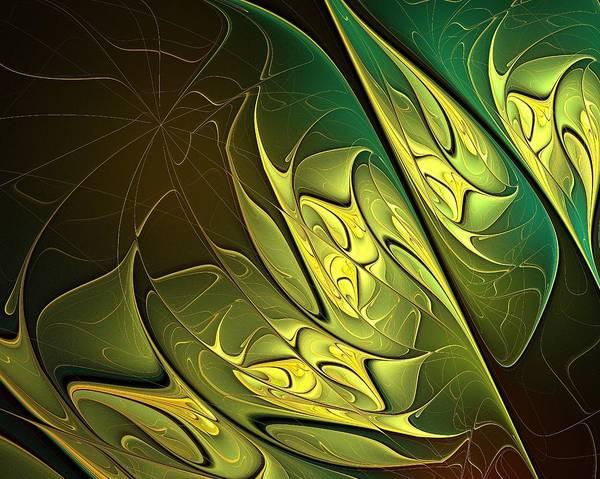 Digital Art Poster featuring the digital art New Leaves by Amanda Moore