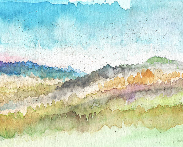 Watercolor Landscape Poster featuring the painting New Morning- Watercolor Art By Linda Woods by Linda Woods