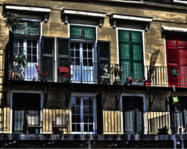 Balcony Poster featuring the photograph New Orleans Balcony by Cecil Fuselier