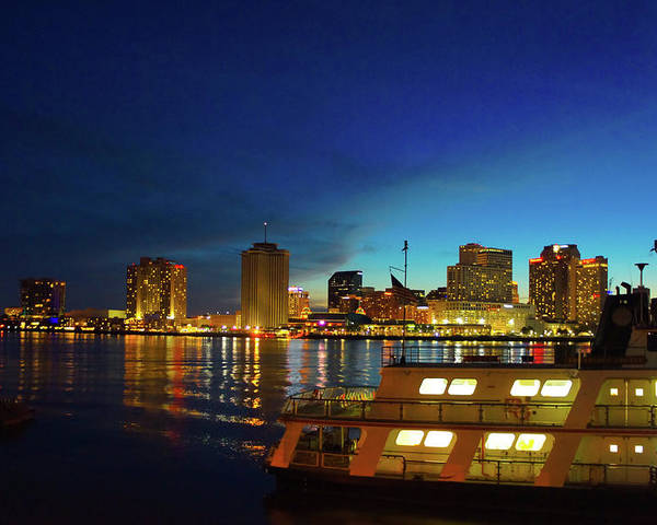 New Orleans Poster featuring the photograph New Orleans Downtown Skyline by Art Spectrum