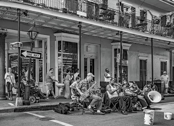 French Quarter Poster featuring the photograph New Orleans Jazz 2 - Bw by Steve Harrington