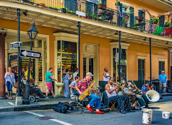 French Quarter Poster featuring the photograph New Orleans Jazz 2 by Steve Harrington