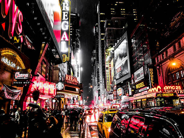 Newyork Poster featuring the photograph New York City Night II by Nicklas Gustafsson