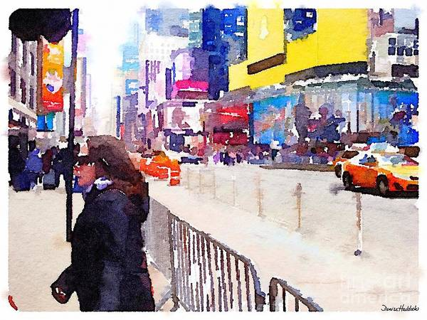 New York Poster featuring the digital art New York Flavor by Denise Haddock