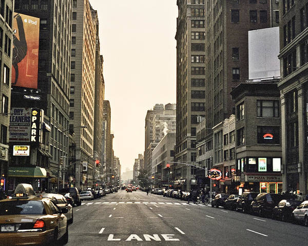 Nyc Poster featuring the photograph New York New York by Wes Shinn