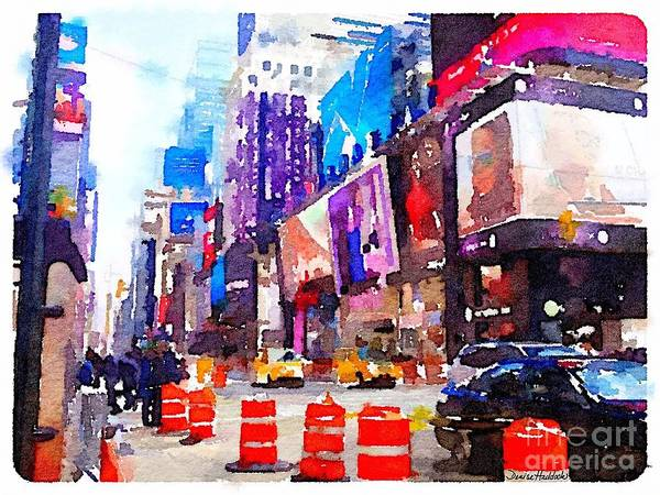 New York Poster featuring the digital art New York Pulse by Denise Haddock