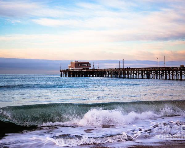 Balboa Peninsula Poster featuring the photograph Newport Beach Ca Pier At Sunrise by Paul Velgos