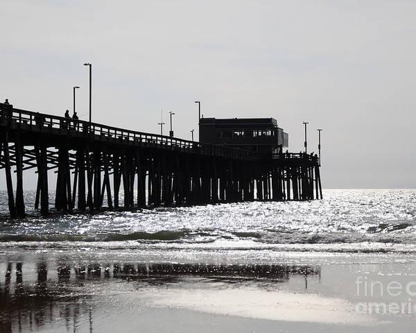 Balboa Peninsula Poster featuring the photograph Newport Pier by Paul Velgos