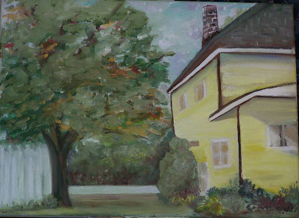 Oil Painting Poster featuring the painting Nh Home by Pamela Wilson