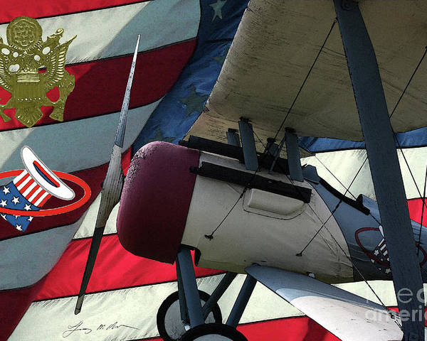 Nieuport 28c Poster featuring the digital art Nieuport 28c Hat In The Ring by Tommy Anderson