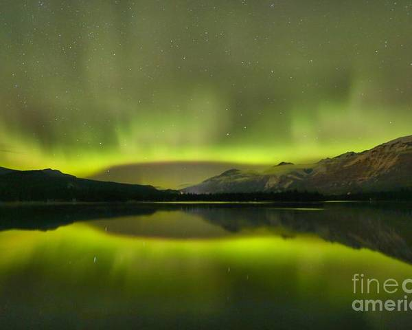 Canadian Northern Lights Poster featuring the photograph Night Sky Delight by Adam Jewell