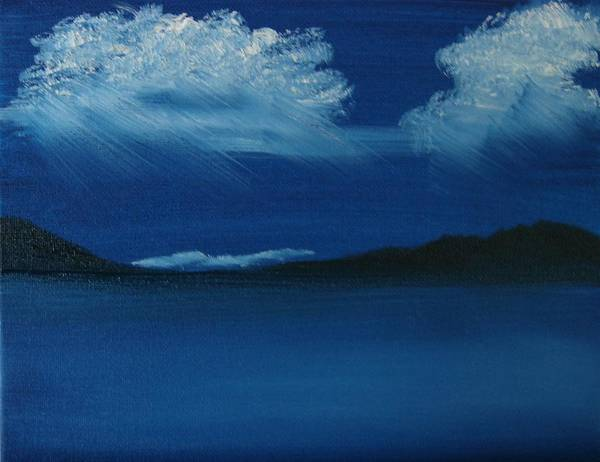 Landscape Poster featuring the painting Night Sky by Dottie Briggs