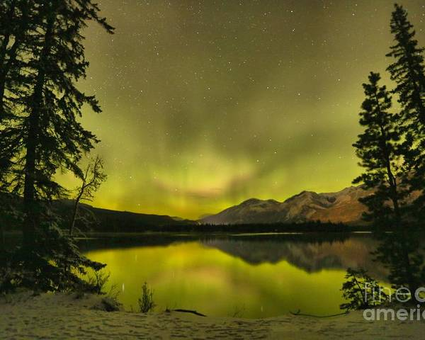 Canadian Northern Lights Poster featuring the photograph Night Sky Magic by Adam Jewell