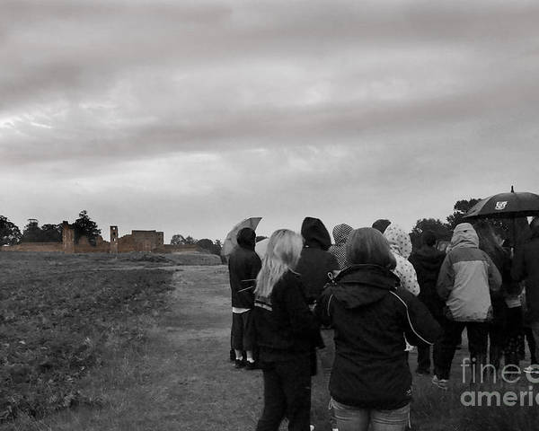 Ghosts Poster featuring the photograph Night Vision Ghost Story In Bradgate Park. by Linsey Williams