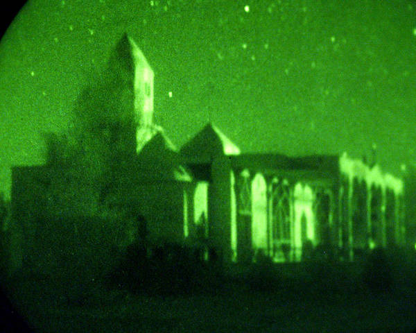 Mosque Poster featuring the photograph Night Vision Mosque Kandahar by Thomas Michael Corcoran