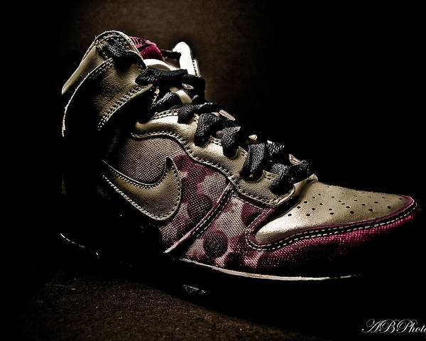 Product Photography Poster featuring the photograph Nike Dunks by Allison Badely