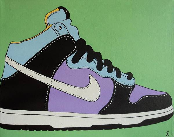 Shoe Poster featuring the painting Nike Shoe by Grant Swinney