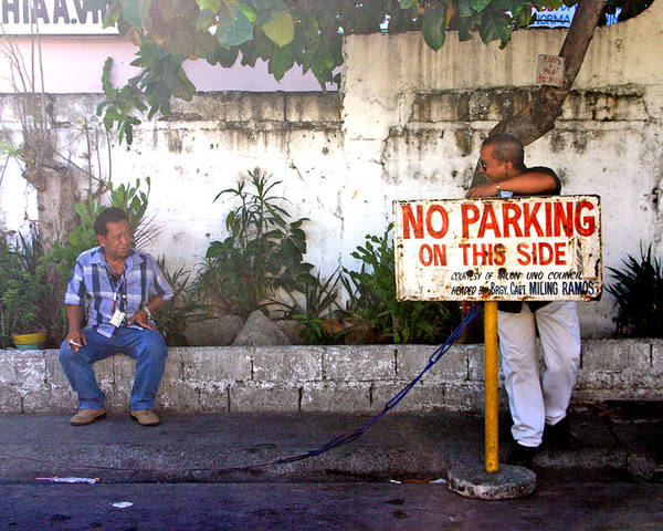 Photographer Poster featuring the photograph No Parking This Side by Jez C Self