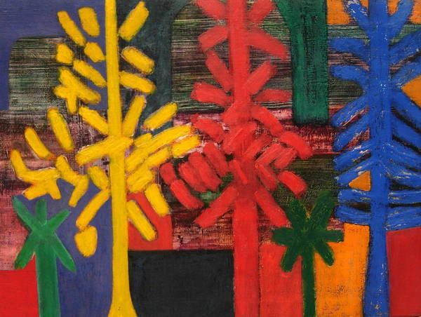 Abstract Poster featuring the painting No.307 by Vijayan Kannampilly