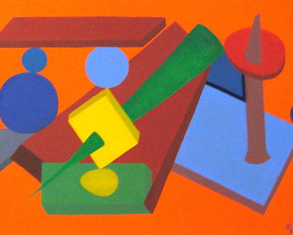 Abstract Poster featuring the painting No.337 by Vijayan Kannampilly