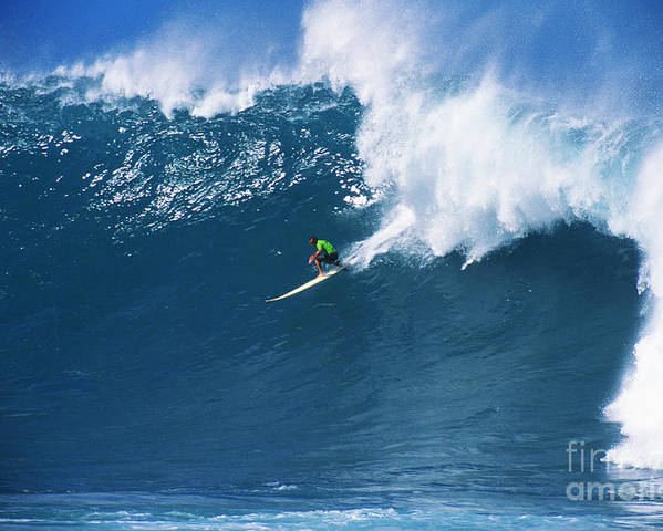 Adrenaline Poster featuring the photograph Noah At Waimea by Vince Cavataio - Printscapes