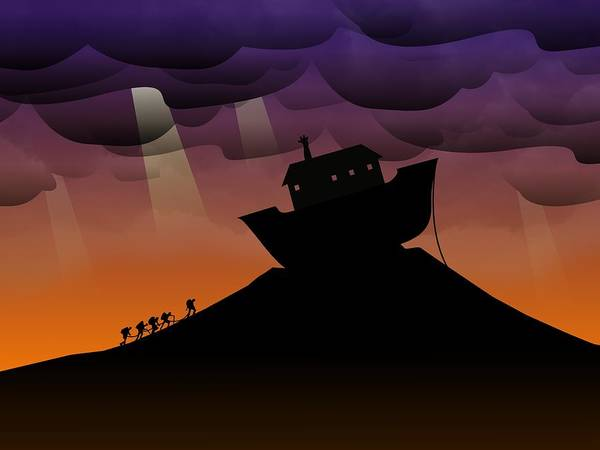 Noah Poster featuring the digital art Noah's Ark Discovery by Nestor PS