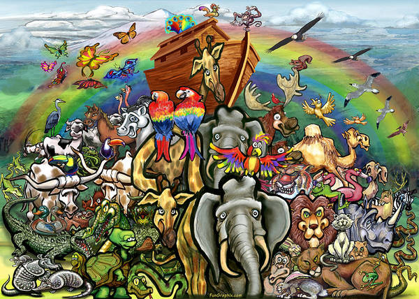 Noah's Ark Poster featuring the painting Noah's Ark by Kevin Middleton
