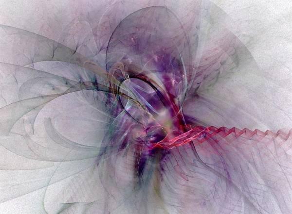 Spiritual Poster featuring the digital art Nobility Of Spirit - Fractal Art by NirvanaBlues