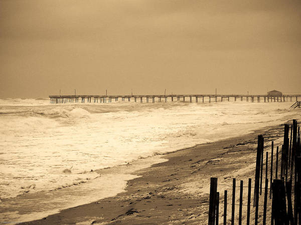 Ocean Poster featuring the photograph Nor'easter At Nags Head by Ches Black