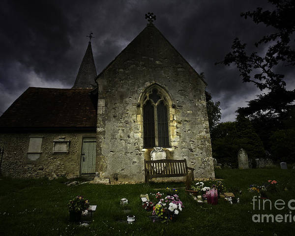 Church Poster featuring the photograph Norman Church At Lissing Hampshire England by Sheila Smart Fine Art Photography