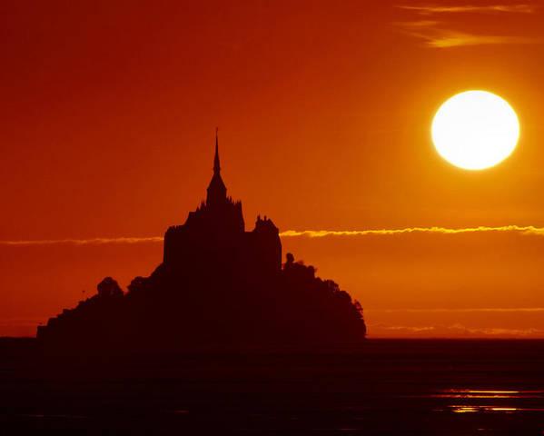 Sunset Poster featuring the photograph Normandy Sunset by Joe Bonita