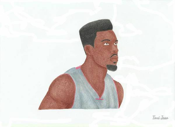 Basketball Poster featuring the drawing Norris Cole by Toni Jaso
