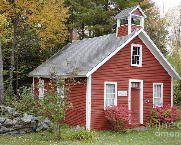 New Hampshire Poster featuring the photograph North District School House - Dorchester New Hampshire by Erin Paul Donovan