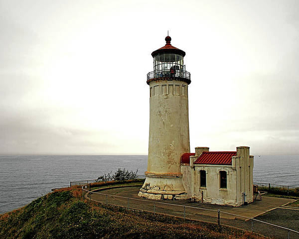 Cape Disappointment Poster featuring the photograph North Head Lighthouse - Graveyard Of The Pacific - Ilwaco Wa by Christine Till